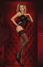 Ballerina 343 Hold Ups Nero (Black)/Red